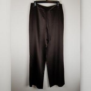 Talbots pure silk formal dress pants brown size 8